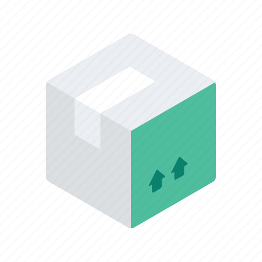 arrow, box, delivery, logistic, package, parcel icon