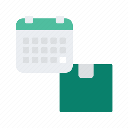 box, calendar, date, delivery, logistic, package icon