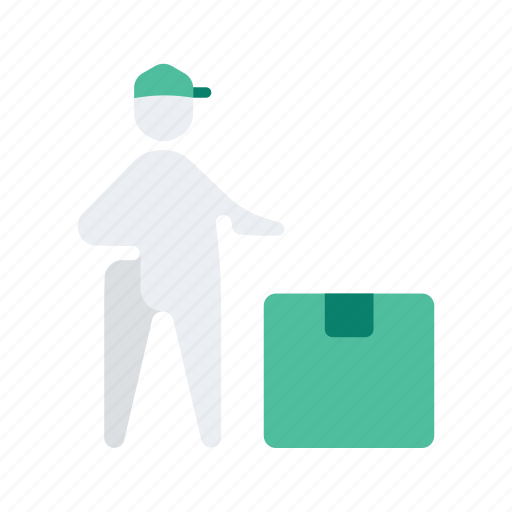 box, delivery, logistic, man, package icon