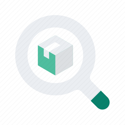 delivery, find, locate, logistic, magnifier, package, search icon