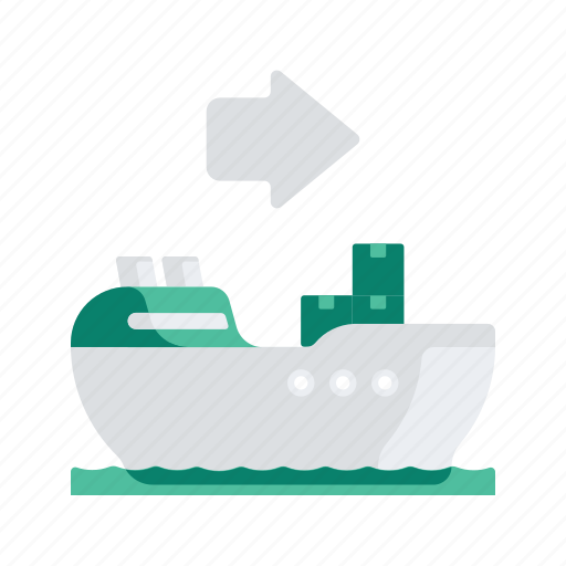 arrow, delivery, logistic, ship, transport, transportation icon