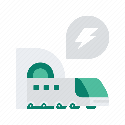 delivery, express, logistic, speed, train, transport, transportation icon