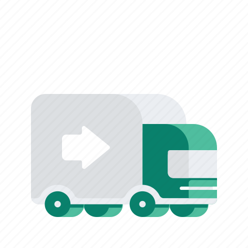 arrow, delivery, logistic, transport, transportation, truck, vehicle icon