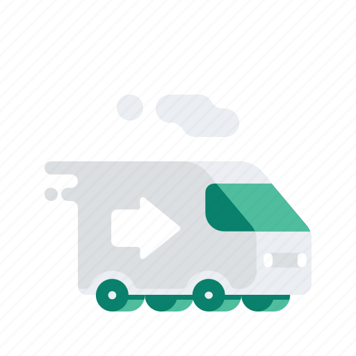 arrow, delivery, logistic, transport, transportation, van, vehicle icon