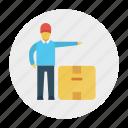 box, boy, carton, delivery, parcel