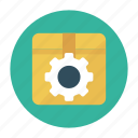 box, carton, gear, parcel, setting