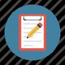 clipboard, create, document, edit, write