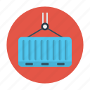 container, delivery, hook, lifter, shipping icon