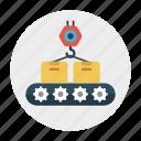 box, conveyor, crane, delivery, shipping