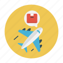 airplane, delivery, parcel, shipping, transport