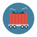 coal, delivery, mine, shipping, transport