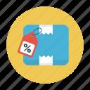 box, carton, discount, parcel, tag
