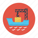 crane, cruise, delivery, hook, shipping