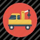 crane, lifter, shipping, truck, vehicle