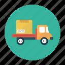 box, carton, delivery, parcel, truck