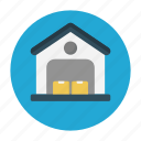 box, factory, garage, shipping, warehouse