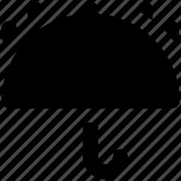 fragile symbol, keep dry, open umbrella, parasol, protection, raindrops, umbrella icon