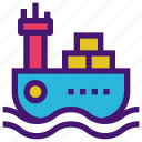 cargo, delivery, logistic, service, ship, shipping icon