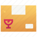 delivery, fragile, logistic, service, shipping icon