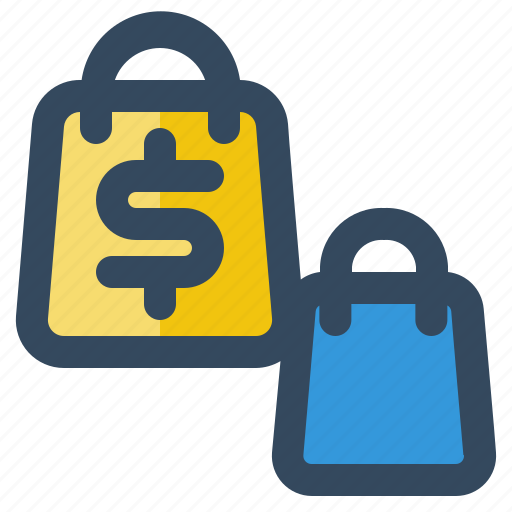 bag, business, delivery, logistic, money, shipping icon
