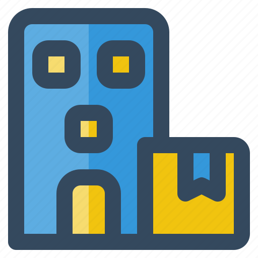 box, building, business, delivery, logistic, money, shipping icon