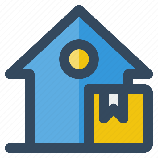 box, business, delivery, house, logistic, money, shipping icon