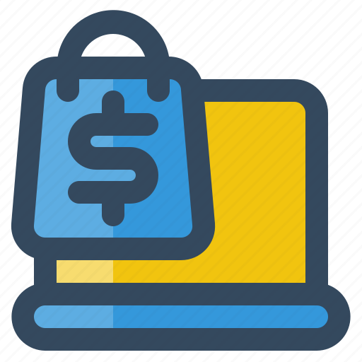 bag, business, delivery, laptop, logistic, money, shipping icon