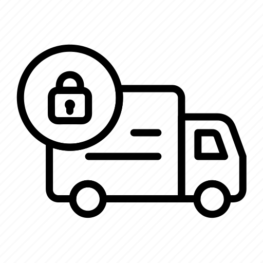 delivery, logistic, order secure, shipping, transport icon