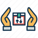 delivery, parcel, product delivery, protection, safety, security, shipping icon
