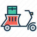 bicycle, bike delivery, electric bike, food delivery, scooter, transportation icon