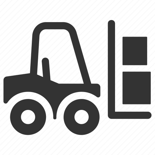 fork truck, forklift, logistics icon