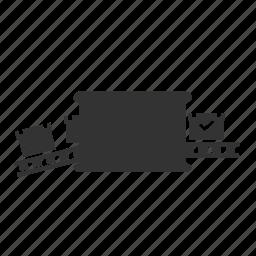 belt, box, cargo, conveyor, loading, logistic, quality icon
