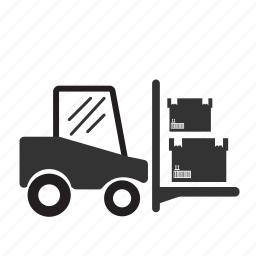 forklift, forklift truck, loading, logistic, transport, vehicle, warehouse icon