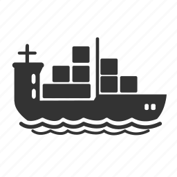 delivery, logistic, sailing, ship, shipping, shop, transport icon