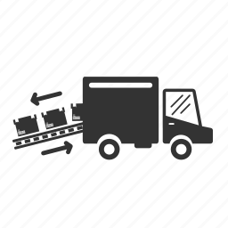 conveyor, delivery, loading, logistic, transport, truck, vehicle icon