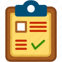 checklist, clipboard, form, list, report, tasks, todo icon