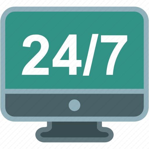 customer support, four, helpline, hours, service, twenty icon