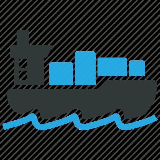 boat, cargo, ship, shipment icon