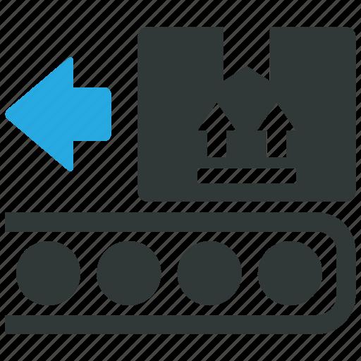 belt, conveyor, in, transportation icon