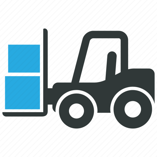 fork truck, forklift, logistics, warehouse icon