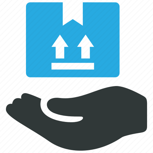 box, care, hand, handle, package icon