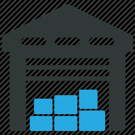 logistics, storage, storehouse, warehouse icon