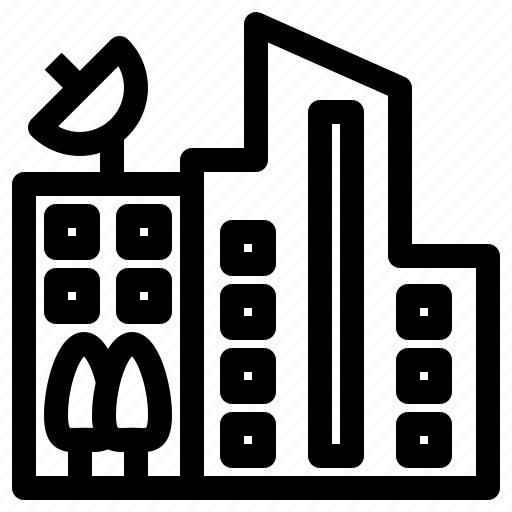 building, center, company, office, skyscraper, station icon