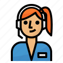 call center, service, support icon