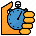 delivery, shipping, time, tracking, watch icon
