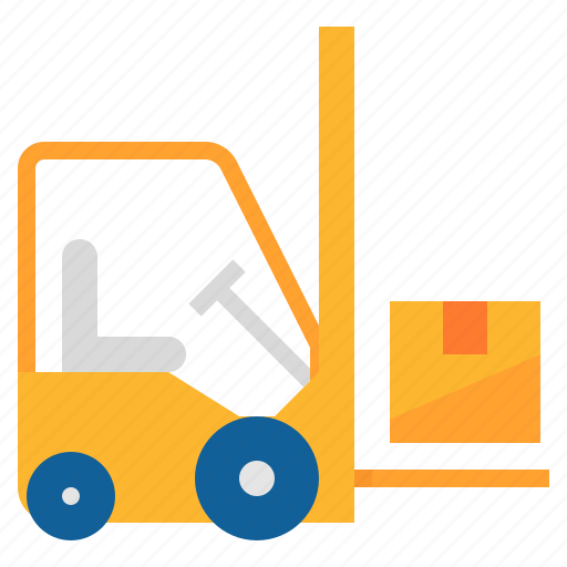 forklift, lift, truck, warehouse icon