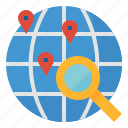 destination, find, geolocation, location, map, point, search icon