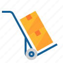 box, delivery, shipping, trolley icon