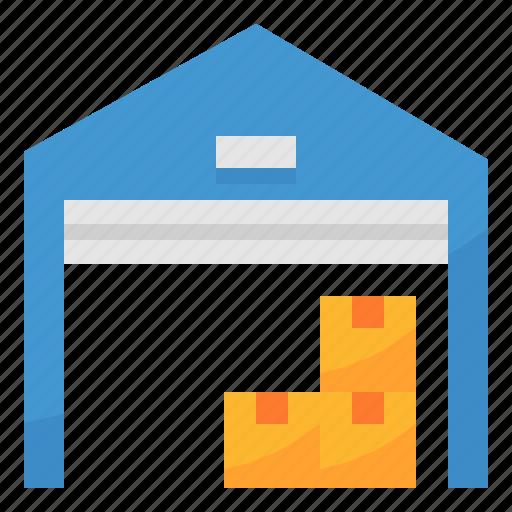 factory, stock, warehouse icon
