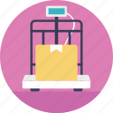 delivery charges, logistics apparatus, weighing tool, weight of package, weight scale icon